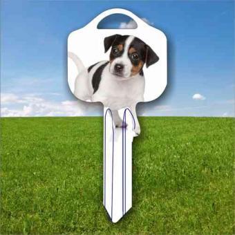 Fanschlüssel Tiermotiv Jack Russell Terrier Hund