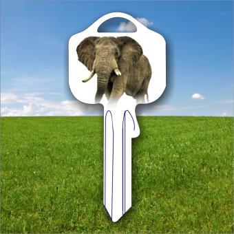 Fanschlüssel Tiermotiv Elefant