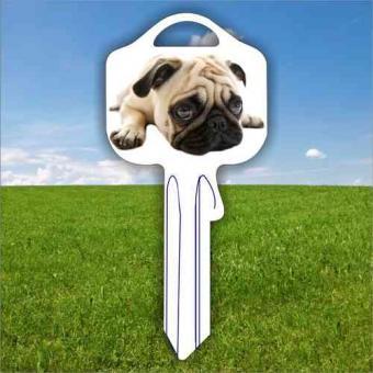 Fanschlüssel Tiermotiv Mops Hund